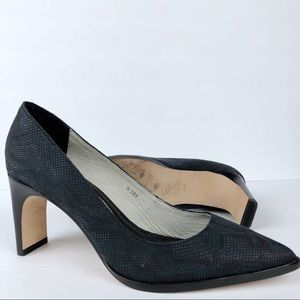 Matt Bernson Python Heels Black charcoal gray 9.5